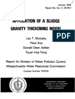 Application of a Sludge Gravity Thickening Model