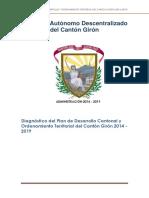 Plan de Desarrollo y Ordenamiento Teritorial Del Canton Giron ( ) Gobierno Autónomo Descentralizado Del Cantón Girón