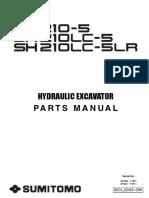 SH210-5 Part Manual