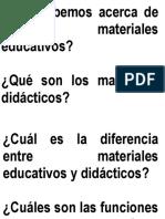 Que Sabemos Acerca de Los Materiales Educativos