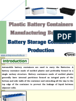 Plastic Battery Containers Manufacturing Business