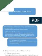 Eksistensi Dinul Islam