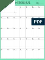 organizador mensual