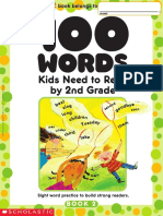 100 Words Kids Need to Read by 2 Grade