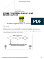 Spaced Pair Stereo Microphone Considerations