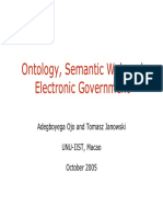 Ontology SemanticWeb and Electronic Government