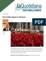Aria Di Minculpop in Vaticano