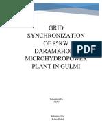 Feasibility Report on grid Synchronization of Daram Khola Micro hydro Hydro