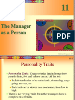 The Manager as a person