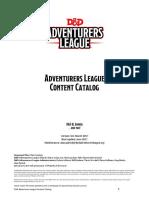 adventure league content catalog