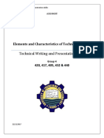 Elements and Chractristics of Technical Writing