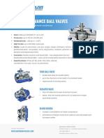 HARTMANN Ball Valves Metal to Metal Sealing
