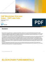 SAP Blockchain Oct2018 Indus