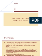 Data Mining, Data Pattern, Machine Learning(Week 2