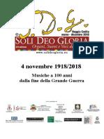 Reggio E. 4 Nov 2018 Programma Di Sala Cripta Duomo