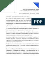 Carta á Ministra de Política Territorial e Función Pública