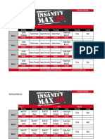 Insanity Max 30 Standard Calendar