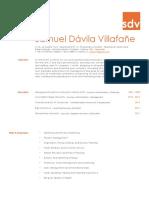 Resumen Curricular Samuel Davila V