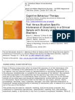 Cognitive Behavioural Theory