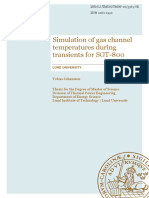 Simulations of Gas Channel Temperatures During