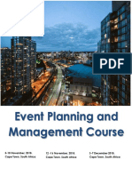 Event Planning and Management Course