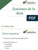 Modificaciones de La Dieta