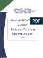 Contenido Curso Productos Turísticos Agroambientales