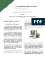 Breve Descripción y Funcionalidad de La Apple 2