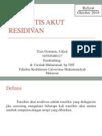 Tonsilitis Akut Residivan