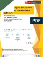 Vision de Las Contrataciones Lic Rodolfo Arias