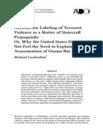 2011 Asymmetric Labeling of Terrorist V
