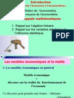 Econometrie Chapitre 0 , 1 Et 2