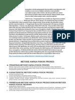 Metode Harga Pokok Proses Merupakan Metode Pengumpulan Biaya Produksi Yang Digunakan Oleh Perusahaan Yang Mengolah Produknya Secara Massa
