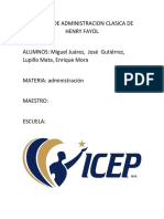 ESCUELA DE ADMINISTRACION CLASICA DE HENRY FAYOL.docx
