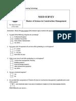 Survey MasterConstructionManagement