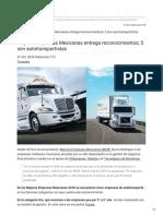 MEJORES EMPRESAS MEXICANAS ENTREGA RECONOCIMIENTOS; 5 SON AUTOTRANSPORTISTAS