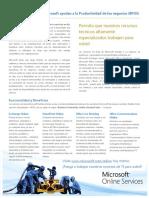 Business Productivity Online Suite Data Sheet April 2009 - SP
