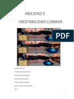 ESTABILIDAD E Inestabilidad Lumbar