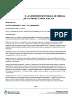 Decreto 986/2018 Generación Distribuida