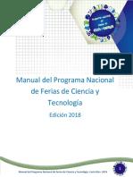 Manual Programa Nacional Ferias Ciencia Tecnologia Costa Rica 2018 Vf