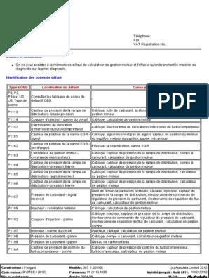 1-6-hdi-dv6ted4-9hz-110ch-fap pdf | Moteur diesel | Allumage