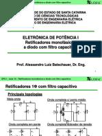 Eletronica de Potencia Udesc Retificador Mono a Diodo Com Filtro Capacitivo ATUALIZADO
