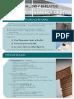 Ficha Ensayos Papel y Carton