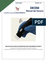 Manual de Uso Dermatoscopio Firefly De350