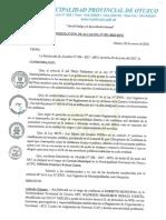 RESOLUCIÓN DE ALCALDÍA N° 001-2018