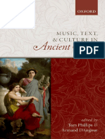 Music, Text, And Culture in Ancient Greece