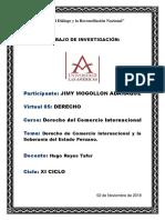 TRABAJO Derecho de Comercio Internacional y La Soberanía Del Estado Peruano.