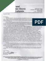 David Dykstra Letter 0f December 6, 2000 to Informal Council