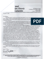 David Dykstra Letter 0f December 6, 2000 to Informal Council