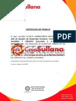 Certificado Caja Sullana